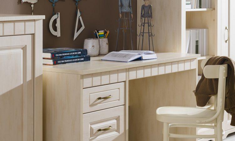 písací stôl Tirol vanilka patina