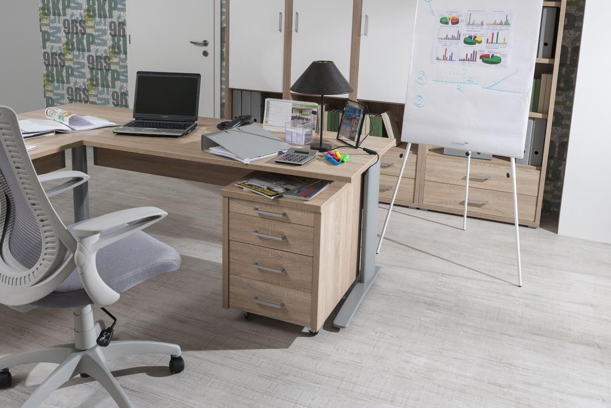 Písaci stôl Uno, farba: dub pílený bardolíno